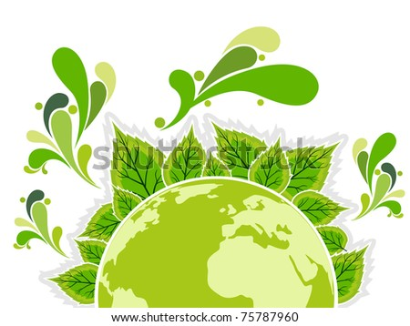 vector illustration of ecology concept background - stock vector