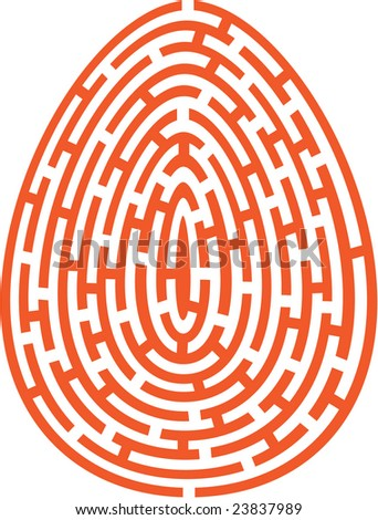 Vector illustration of egg type labyrinth - stock vector