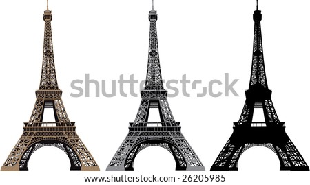 Vector illustration of Eiffel Tower in Paris, France