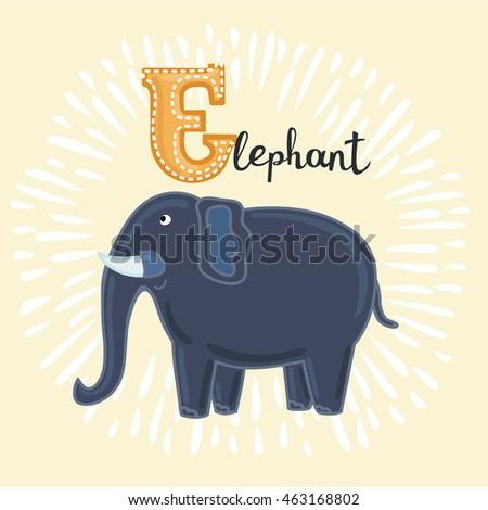 Arbeitsblatt Vorschule  E Wie Elefant Ebenbild