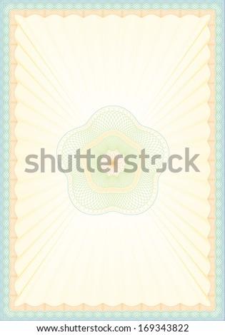 Vector Illustration of Empty Guilloche Background - stock vector