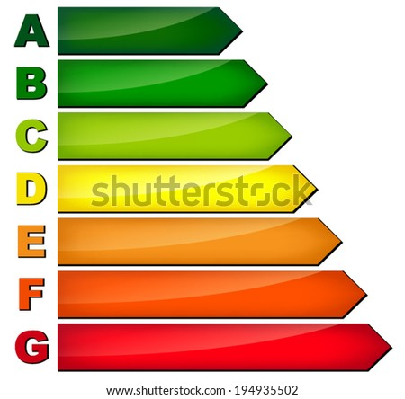 Vector illustration of energy consumption on white background - stock vector