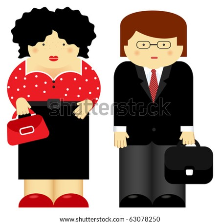 Vector illustration of family theme. Parents - stock vector