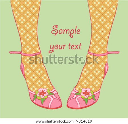 Vector illustration of fashionable legs