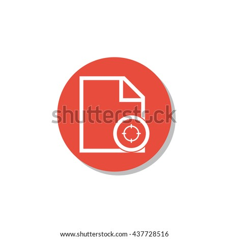 Vector illustration of file goal sign icon on red circle background.