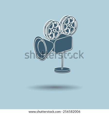 Vector illustration of  Film camera color background. - stock vector