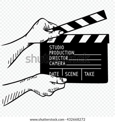vector illustration of film clapper