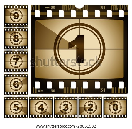 vector illustration of film countdown - stock vector