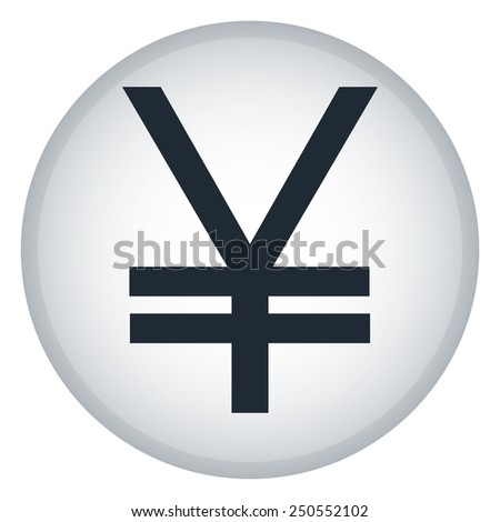 Vector illustration of finance and business icons. Yen - stock vector