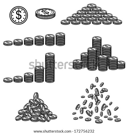 Vector illustration of financial success - stock vector