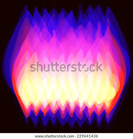 Vector illustration of  fire (gas)  spurts of flame burning. with place for Your text - stock vector