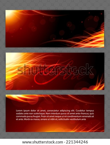 Vector illustration of Fire glow background - stock vector