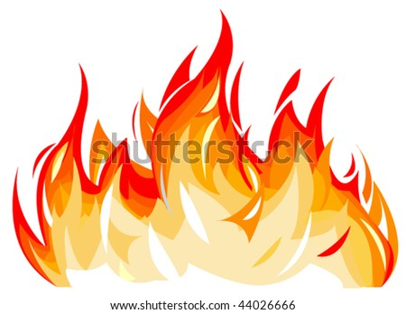 Vector illustration of flames - stock vector