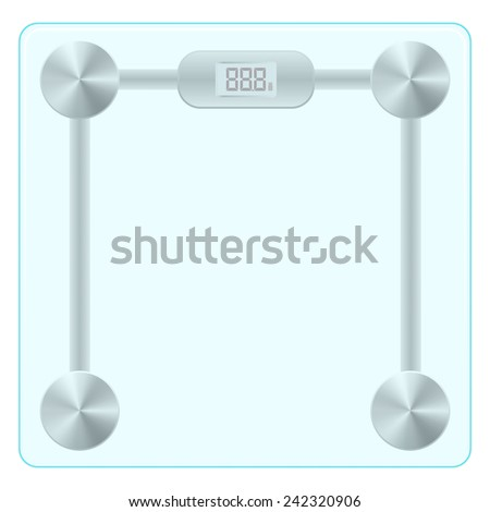 Vector illustration of floor glass scales. isolated on white background - stock vector