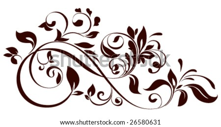 vector illustration of floral ornament - stock vector