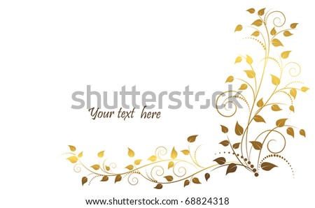 Vector illustration of floral ornament.