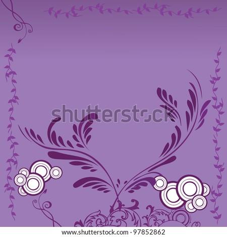 vector illustration of  flower background - stock vector