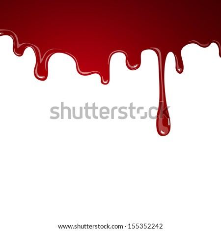 Vector Illustration of Flowing Blood - stock vector
