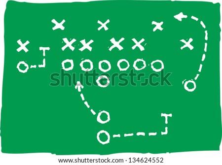 Vector illustration of Football Play - stock vector