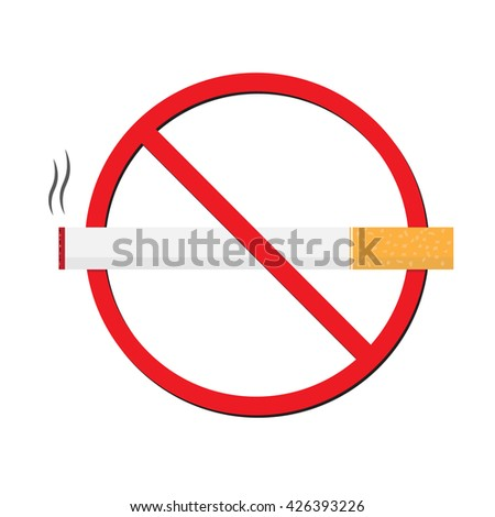 Vector illustration of for World No Tobacco Day,Anti Smoking sticker, tag or label design with cigarette for World No Smoking Day.