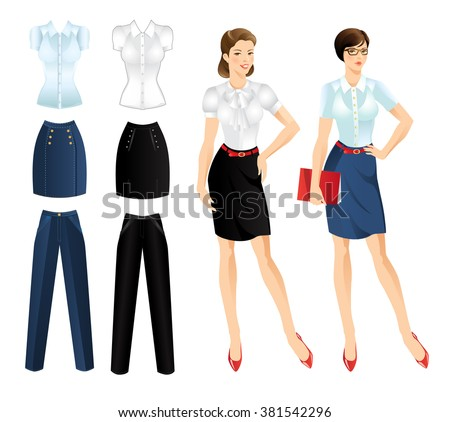 Vector Illustration Women Red Formal Jacket Stock Vector 405915640 ...