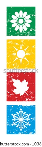 Vector illustration of four seasons. - stock vector