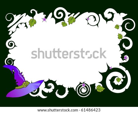 Vector illustration of frame with hat - stock vector