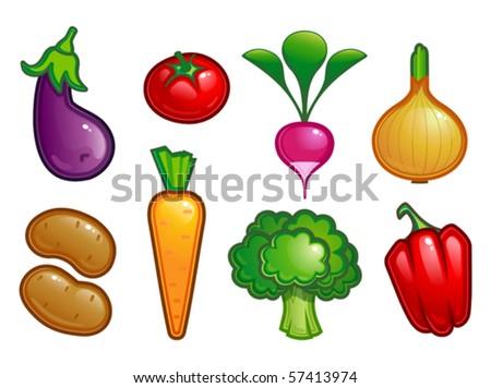 vector illustration of fresh vegetable - stock vector