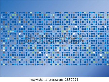 Vector illustration of funky and retro blue pattern