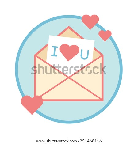 Vector illustration of funky retro airmail envelope with stamp isolated on white background flat design concept - stock vector