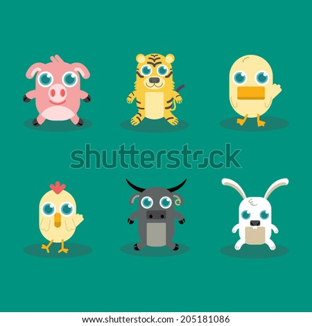 Vector illustration of Funny Animal Icon Set No.2