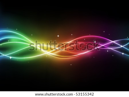 Vector illustration of  futuristic abstract background resembling motion blurred neon light curves - stock vector