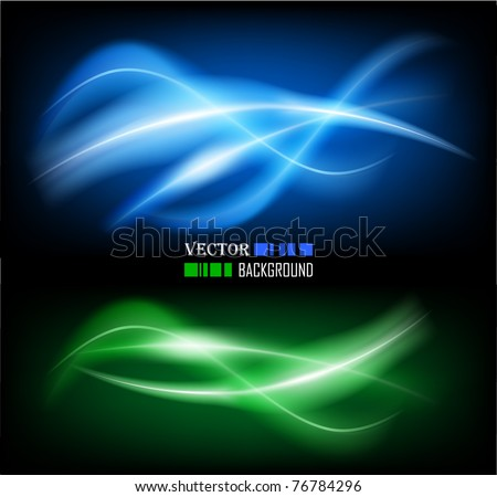 Vector illustration of futuristic color abstract glowing background - stock vector