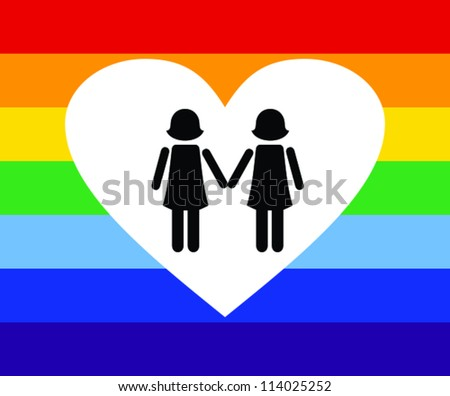 Vector illustration of gay icon union. - stock vector