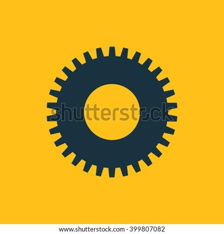 Vector illustration of gear icon - stock vector