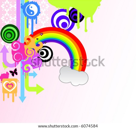 Vector Illustration of Girly Designs - stock vector