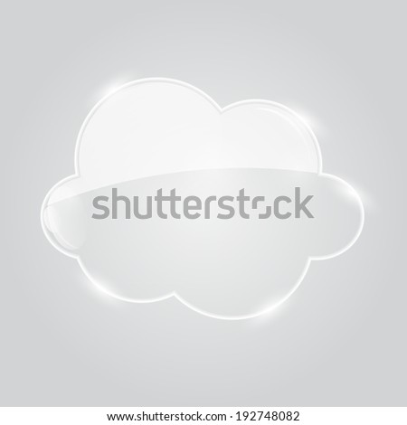Vector Illustration of Glass  Cloud Icon - stock vector
