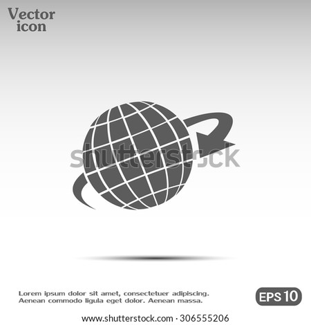 Vector illustration of globe  - stock vector