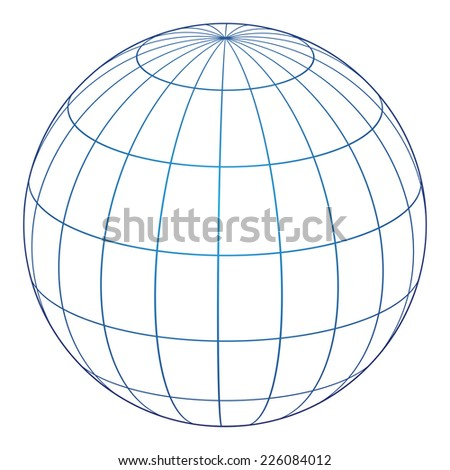 Vector illustration of globe icon - stock vector
