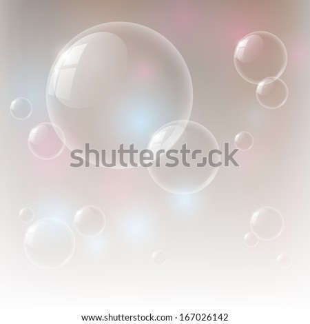 Vector illustration of glossy bubbles
