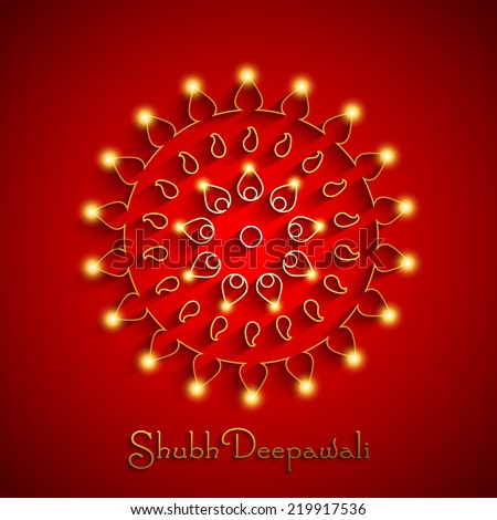 Vector Illustration of glowing Decorative Background for Diwali.  - stock vector