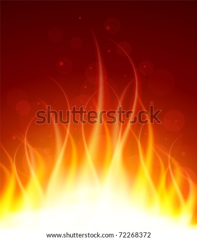 Vector illustration of Glowing fire background - stock vector