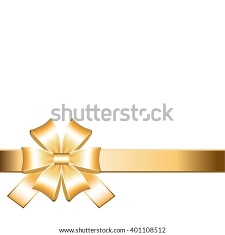 Vector illustration of Gold bow.