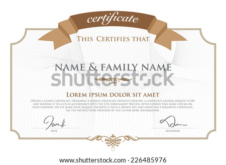 Vector illustration of gold detailed certificate. - stock vector