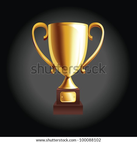 vector illustration of golden trophy