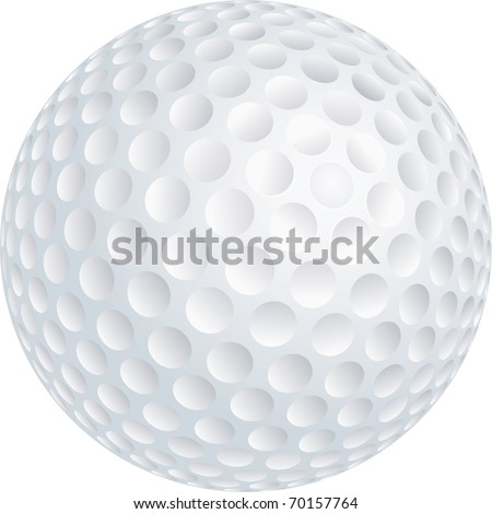 Vector illustration of golf ball - stock vector