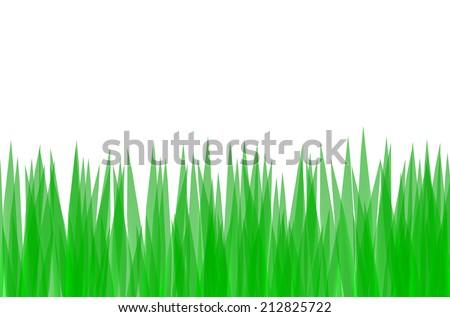 Vector illustration of green grass - stock vector