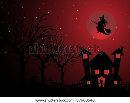 vector illustration of halloween background