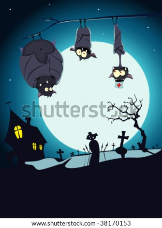 vector illustration of halloween card