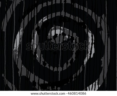 Vector illustration of hand drawn ink distressed grunge spiral pattern. Hand drawn / painted image. Black, grey and white.